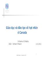 Giáo dục và đào tạo về hạt nhân ở Canada