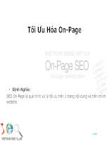 Tối ưu hóa On-Page