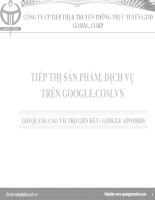 Tiếp thị sản phẩm, dịch vụ trên google.com.vn