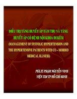 Điều trị tăng huyết áp tâm thu và tăng huyết áp có bệnh nội khoa đi kèm