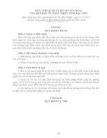 QUY CHẾ QUẢN LÝ RỦI RO TÍN DỤNG CỦA QUỸ ĐẦU TƯ PHÁT TRIỂN TỈNH BẠC LIÊU