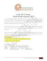 Cuộc thi ý tưởng kinh doanh sáng tạo 2012