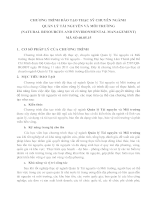 Chuong trinh DT Thac sy QLTN va MT(1)