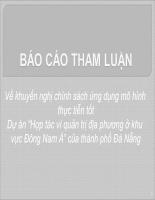 Dự án Hợp tác vì quản trị địa phương ở khu vực Đông Nam Á của thành phố Đà Nẵng