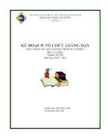 Kế hoạch tổ chức giảng dạy học phần Kế toán hành chính sự nghiệp