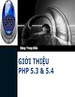 Giới thiệu các tính năng mới trong PHP 5.3 và PHP 5.4