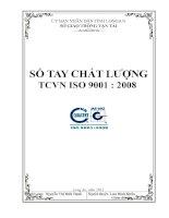 Sổ tay chất lượng tiêu chuẩn việt nam ISO 9001 2008