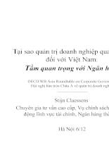 Tại sao quản trị doanh nghiệp quan trọng đối với Việt nam