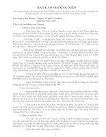 Báo cáo hướng dẫn về việc Công bố thông tin trên thị trường chứng khoánx