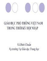 Giáo dục phổ thông Việt nam trong thời kì hội nhập