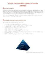 CCDA- Cisco Certified Design Associate