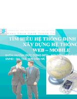 Tìm hiểu hệ thống định vị GPS xây dựng hệ thống Web- Mobile
