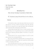 Bài kiểm tra Tin Học Ứng Dụng Trong Quản Lý Hành Chính
