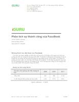 Phân tích sự thành công của Facebook