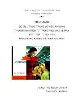 thực trạng về việc áp dụng thương mại điện tử trong việc đặt vé máy bay trực tuyến của hãng hàng không vietnam airlines