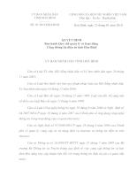 03 /2010/QĐ-UBND: QUYẾT ĐỊNH Ban hành Quy chế quản lý và hoạt động  Cổng thông tin điện tử tỉnh Hòa Bình