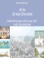 Đề nghị công nhận thành phố Hạ Long là đô thị loại 1