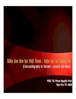 Siêu âm tim tại Việt Nam - Hiện tại và tương lai