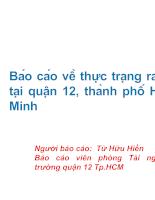 Báo cáo về thực trạng rác thải tại quận 12, thành phố Hồ Chí Minh