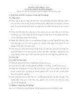 Hướng dẫn thực tập và viết báo cáo thực tập