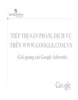 Tiếp thị sản phẩm, dịch vụ trên www.google.com.vn