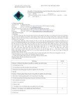 Đề cương chi tiết học phần Tin học ứng dụng trong Kỹ thuật môi trường