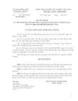 Quyết định Ban hành Quy chế phối hợp trong quản lý nhà nước về đăng ký giao dịch bảo đảm trên địa bàn tỉnh Sóc Trăng