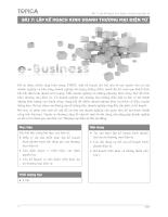 Thương mại điện tử: Lập kế hoạch kinh doanh thương mại điện tử