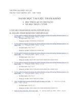 Danh mục tài liệu tham khảo học phần quản trị mạng