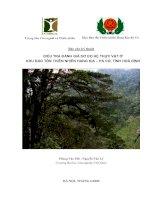 Điều tra đánh giá sơ bộ hệ thực vật ở khu bảo tồn thiên nhiên hang kia-pà cò, tỉnh hòa bình