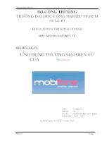 Ứng dụng thương mại điện tử của Mobifone