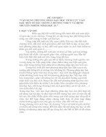 """ĐỀ TÀI SKKN """"VẬN DỤNG PHƯƠNG PHÁP DẠY HỌC TÍCH CỰC VÀO DẠY MỘT SỐ BÀI  TRONG CHƯƠNG VIRUT VÀ BỆNH TRUYỀN NHIỄM- SINH HỌC 10."""""""