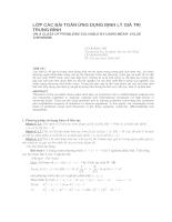 Lớp các bài toán ứng dụng định lý giá trị trung bình