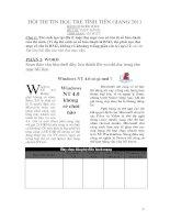 Đề thi thực hành hội thi tin học trẻ tỉnh tiền giang 2011
