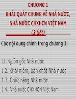 Khái quát chung về nhà nước, nhà nước CHXHCN Việt nam