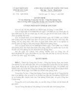 Quyết định Về việc thành lập Trung tâm Tin học - Công báo Quảng Nam