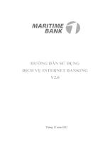 Hướng dẫn sử dụng dịch vụ Internet Banking V2.0