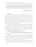 MỘT VÀI THỂ HIỆN CỦA THẾ GIỚI QUAN VÀ PHƯƠNG PHÁP LUẬN DUY VẬT BIỆN CHỨNG TRONG VIỆC XEM XÉT TOÁN HỌC VÀ VẬN DỤNG VÀO NGHIÊN CỨU, GIẢNG DẠY TOÁN HỌC