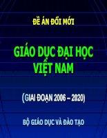 Đề án đổi mới giáo dục đại học Việt nam