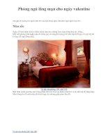 Phòng ngủ lãng mạn cho ngày Valentine