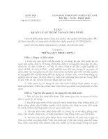 Luật quản lý, sử dụng tài sản nhà nước