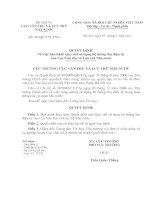 Quyết định Về việc ban hành Quy chế sử dụng hệ thống thư điện tử của Cục văn thư và lưu trữ nhà nước