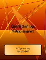 Quản trị chiến lược - Chương 5: Chiến lược kinh doanh quốc tế