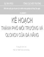 Kế hoạch thành phố môi trường và QLONCN của đà nẵng