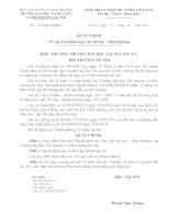 Ban hành quy chế thi đua - khen thưởng