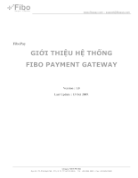 Giới thiệu hệ thông FIBO PAYMENT GATEWAY