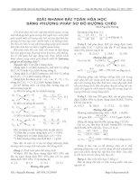 Giải nhanh bài toán hóa học bằng phương pháp sơ đồ đường chéo