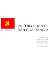 Những quan điểm cơ bản của đảng về CSSK