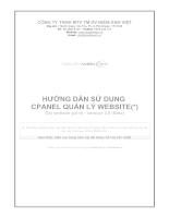 Hướng dẫn sử dụng Cpanel quản lý website