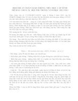 HỘI THI AN TOÀN GIAO THÔNG TIỂU HỌC CẤP TỈNH MỞ ĐẦU CHO CÁC HỘI THI TRONG NĂM HỌC 2012-2013